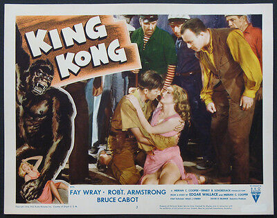KING KONG FAY WRAY BRUCE CABOT R-1956 LOBBY CARD NEAR MINT