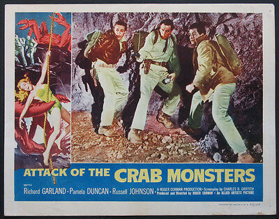 ATTACK OF THE CRAB MONSTERS ROGER CORMAN SCI-FI 1957 LOBBY CARD