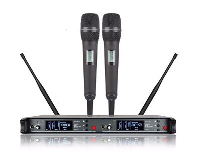 Wireless mics for Theatre UHF Diversity Dual Handheld Microphone Wireless