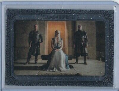 Game of Thrones InfleXions Base Silver Parallel card 63 19/75 Daenerys Targaryen