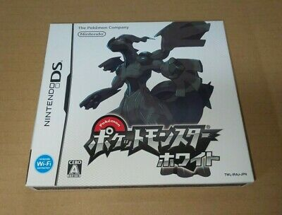 Pokemon white Japanese Nintendo DS Pocket Monster NTSC-J game Zekrom Reshiram