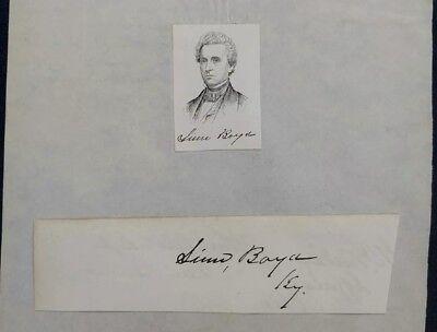 1851-55 Speaker of Congress Linn Boyd Clipped Signature ~ Autograph