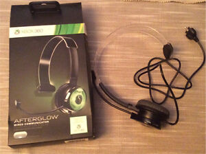 Xbox 360 wired afterglow headset