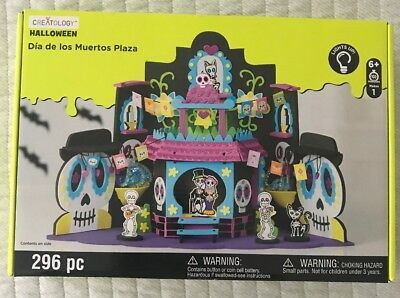 Halloween 3D Haunted House Dia De Los Muertos Plaza Lighted Craft Kit Creatology - Creatology Halloween