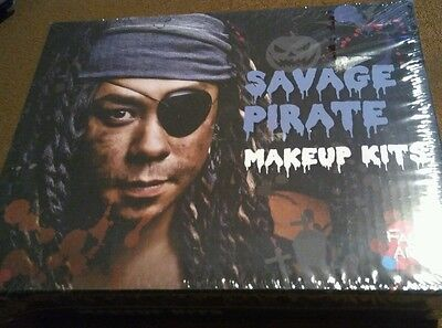 Face Art Savage Pirate Halloween Makeup Kits - Professional Look for Parties NIB
