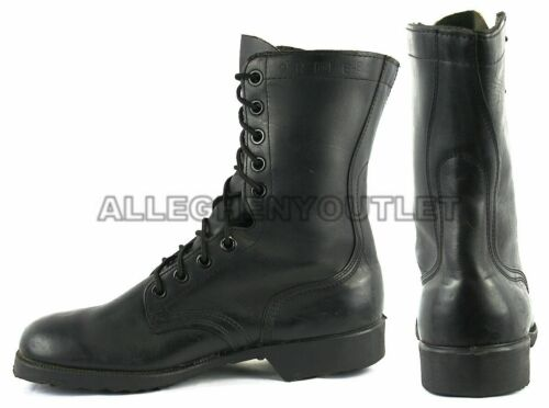 US Military Ro-Search Ripple Sole VIETNAM COMBAT BOOTS LEATHER Black 7.5 W NEW