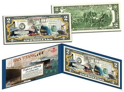 Titanic Rms Ship  100Th Anniversary  Genuine Legal Tender U S   2 Bill Currency