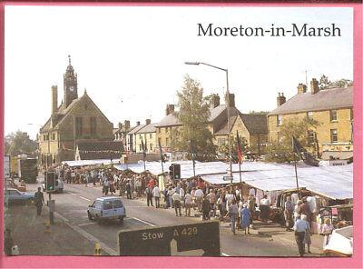 Moreton-in-Marsh – Market Day, Gloucestershire postcard. Judges.