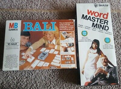 Classic Family Games-MB Bali & Invicta  Word Master Mind Games From The 70S ()