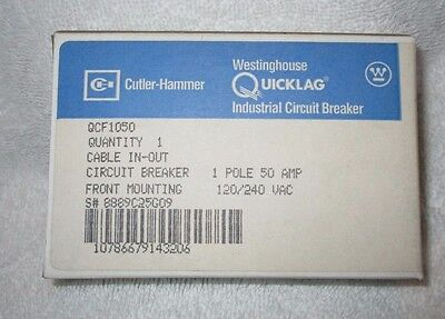 Cutler Hammer Qcf1050 50 Amp 1 Pole Circuit Breaker New