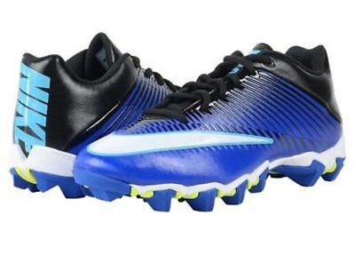 f59db3689 Nike Men s Vapor Shark II 2 833391-400 Football Shoes Cleats Blue Size 10.5