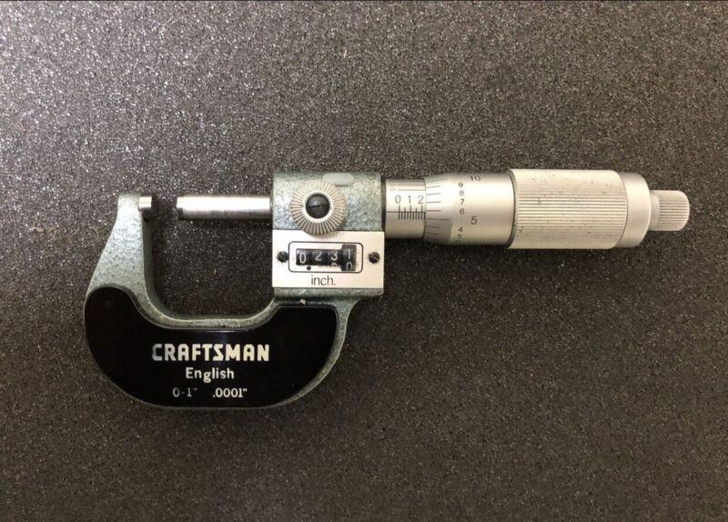 "0-1"" Craftsman Micrometer, Made In Japan"