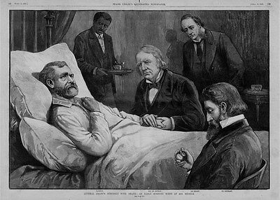 GENERAL GRANT'S LAST HOURS STRUGGLE WITH DEATH PHYSICIANS DOCTORS AT BEDSIDE
