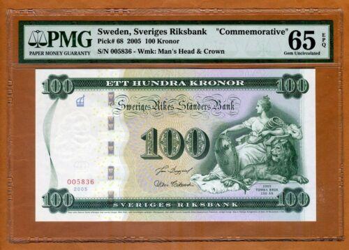 Sweden, 100 Kronor, 2005, P-65, PMG-65, EPQ Gem UNC > Commemorative
