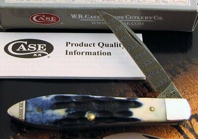 Case Damascus Teardrop Knife 2015 Tony Bose Design Devin Thomas Damascus AAA+ NR