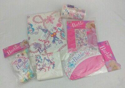 Mattel Barbie Princess Vintage 1990 6 Piece Birthday Party Supplies Set NEW RARE ()