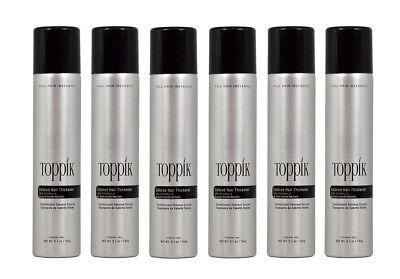 Black Color Hair Spray (6 Bottles of Toppik Fullmore Colored Hair Spray Thickener 5.1oz)