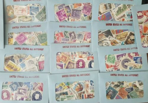 30 Used US Postage Stamps 40-100 YRS OLD *All Different*  Book Value $5.00!