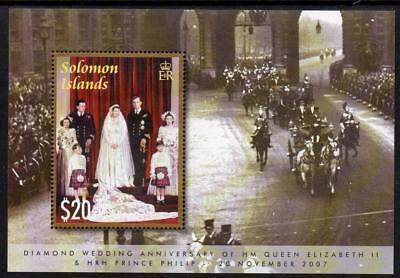 SOLOMON MNH 2007 MS1227 Diamond Wedding - Queen Elizabeth II & Prince Philip