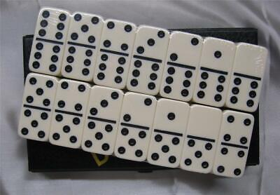 dominoes FAST SHIP USA PR STANDARD SIZE DOUBLE 6 Ivory