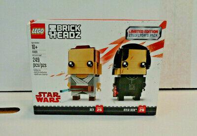 Lego Brick Headz: Rey & Kylo Ren Action Figure Set #41489 (2017) Disney Unopened