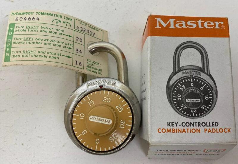 Lot of 10 each Master Lock Combination Padlock 1525 Lock Key-Controlled, USA