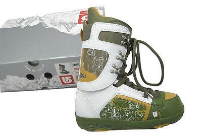NEW Burton Hail Snowboard Boots!  US 7, UK 6, Mondo 25, Euro 40  WHITE & GREEN