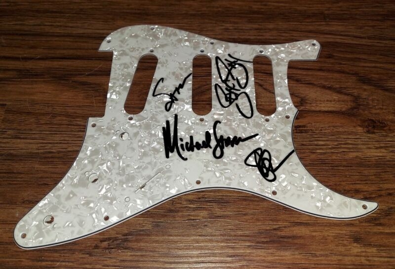 STEEL PANTHER Signed STRAT PICKGUARD Michael Starr ALL4