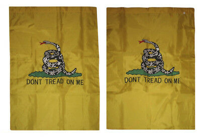 28x40 Embroidered Gadsden Dont Tread On Me Nylon Double Side