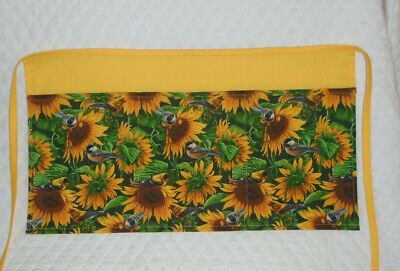 Waitressserver Apron Sunflower And Birds Design