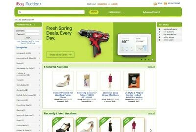 Ebay Clone Auction Website Green - Free Install Hosting With Ssl Included