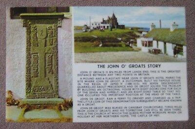 The Jonh O'Groats Story Vintage Postcard