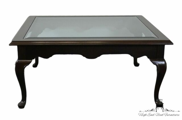 Glass Top Coffee Table 225 Vintage Finish 11 8310