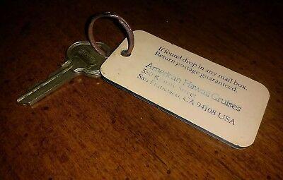 Vintage American Hawaii Cruises Room Key And Fob Bt113 Russwin Key