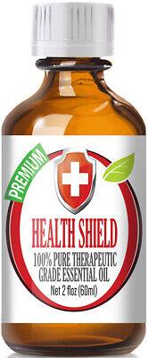 Health Shield Essential Oil Blend (100% Pure & Natural) Glass Bottle + (Glass Blend)