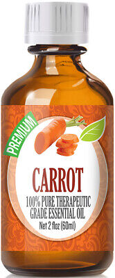- Carrot Seed Essential Oil (100% Pure & Natural) Glass Bottle + Euro Dropper
