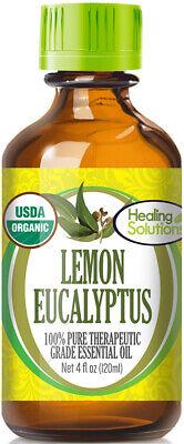 Organic Lemon Eucalyptus Essential Oil (100% Pure - USDA Certified Organic) 100% Pure Organic Eucalyptus