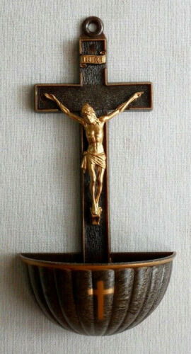 """Bronze Color Holy Water Font 5"""" x 2"""""""