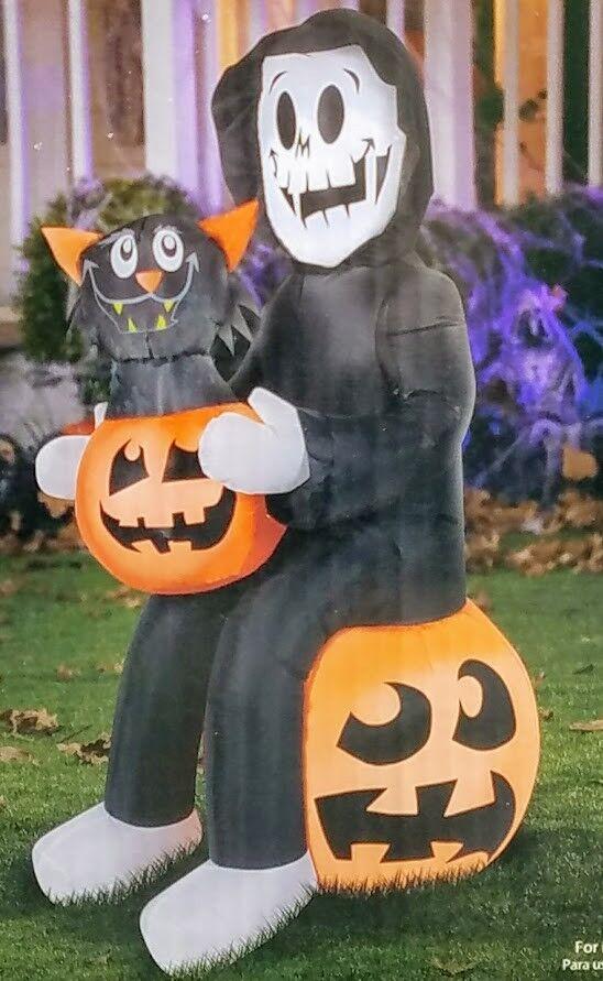 Reapers Pumpkin Surprise Airblown Inflatable 4.5ft Halloween Yard Decor Gemmy