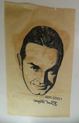 1940s Men's Shirts, Sweaters, Vests VINTAGE 1940'S FUNNY MAN BOB HOPE SHIRT IRON ON DECAL TRASFER  NICE $19.50 AT vintagedancer.com