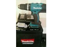 Makita Combi Drill with 2 1.5 Ah lithium ion batteries