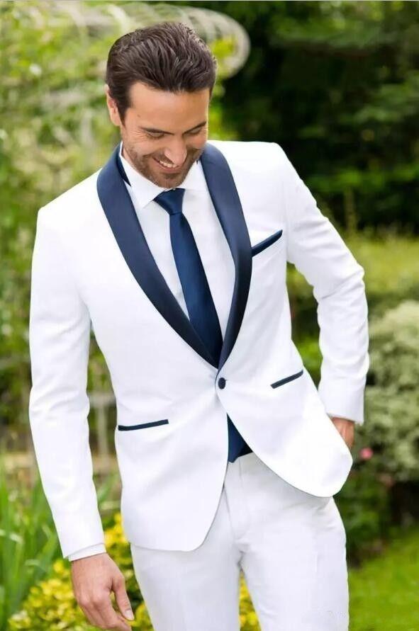 Custom Made Men Slim Fit Wedding Suits Groom Tuxedos Groomsmen Formal Suit Lapel