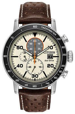 Citizen Eco-Drive Brycen Men's Chronograph Tachymeter 44mm  Watch CA0649-06X
