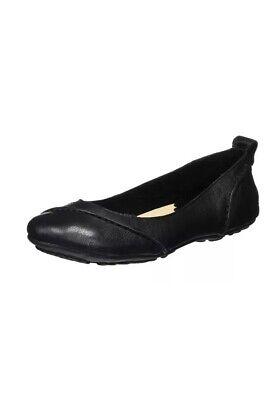 BNIB Hush Puppies Women's Janessa Ballet Flats Black Leather size uk 5