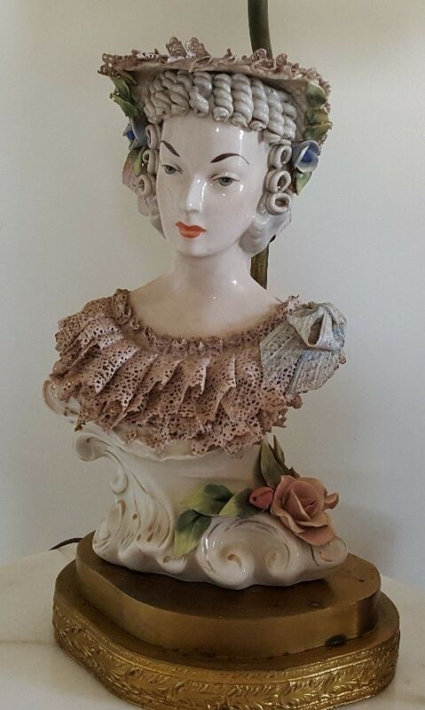FANTASTIC ORIGINAL CORDEY VICTORIAN LARGE LADY LAMP #1 RARE