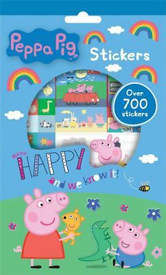 Peppa Pig Set of 700 Reusable Stickers 9 Sheets Activity Fun Play George (Activity Fun Set)