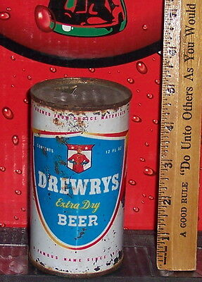DREWRYS  EXTRA DRY BEER 12 OUNCE STEEL FLAT TOP BEER CAn