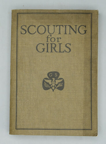 1920 SCOUTING FOR GIRLS - RARE VINTAGE GIRL SCOUT GSA OFFICIAL HANDBOOK!
