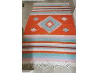 Beautiful bright flat rug