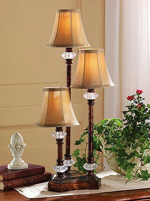 Well-known Style Lamp Set of 3 Elegant Candlestick Table Desk Light Home Decor